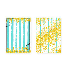Gold glitter frame with dots and sequins wedding vector