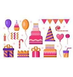 Happy birthday elements vector