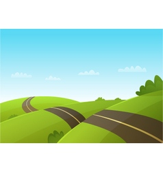 Hill Road vector
