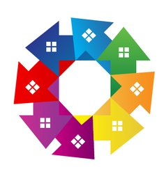 Houses around logo vector