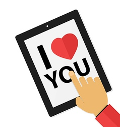 I love you touch screen vector image