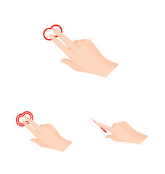 Isolated object of touchscreen and hand logo set vector
