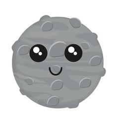 Kawaii moon icon vector