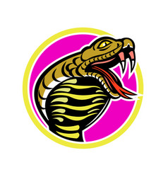 King cobra snake mascot vector