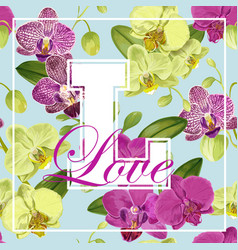 love romantic floral spring summer design vector image