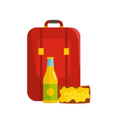 lunch in backpack icon flat style vector image