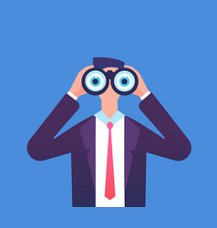 man looking through binoculars we are hiring vector image