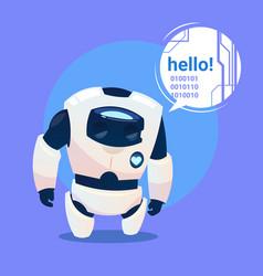 Modern robot says hello futuristic artificial vector