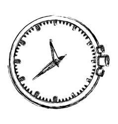 Monochrome blurred silhouette of clock without vector