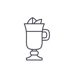 mulled wine line icon concept mulled wine vector image
