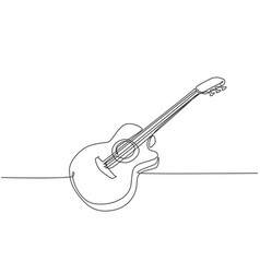 one single line drawing wooden classic vector image