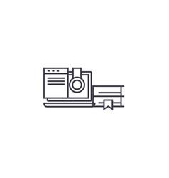 online school line icon sign vector image