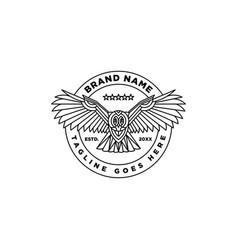 owl bird line art logo vector image