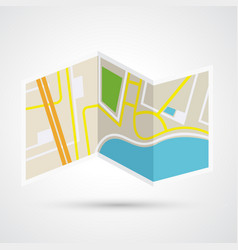 Paper map icon vector