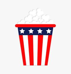popcorn icon cinema icon in flat design style vector image