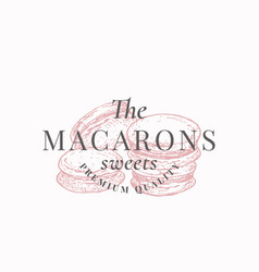 premium macarons sweets confectionary abstract vector image