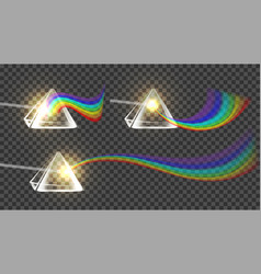 prism and spectrum rainbow collection set vector image