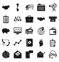 Public attitude icons set simple style vector