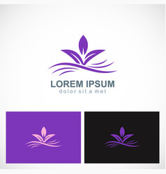 Purple leaf abstract beauty logo vector
