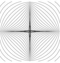 Radial lines with deformation effect radiating vector