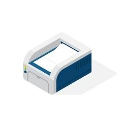 Realistic printer isometric vector image