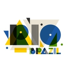 Rio in abstract geometric style Design for print vector