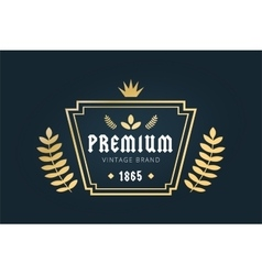 Royal vintage premium logo badge icon template vector