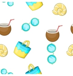 Sandy beach pattern cartoon style vector