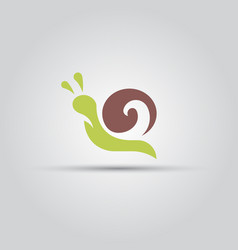 snail isolated colored icon vector image