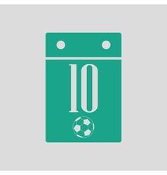 Soccer calendar icon vector image