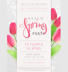 Spring party poster vector