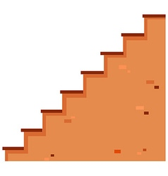 Stairs made of brick vector