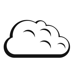 Storm cloud icon simple style vector