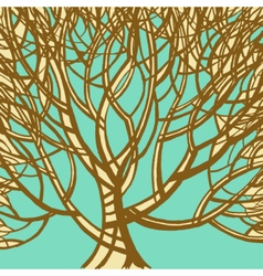 Stylized abstract brown tree art vector