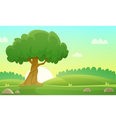 Summer Countryside Landscape vector
