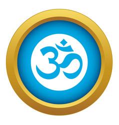 Symbol aum icon blue isolated vector