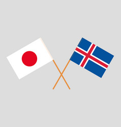 The icelandic and japanese flags vector