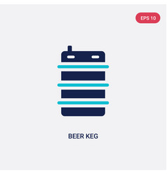 Two color beer keg icon from food and restaurant vector