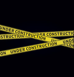 Under construction tape vector