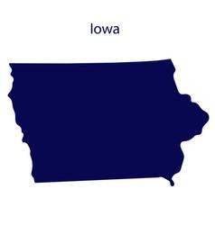 United states iowa dark blue silhouette the vector