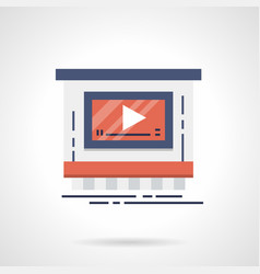 video advertising service flat color icon vector image vector image
