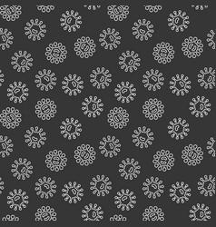 Virus bacteria dark seamless pattern vector