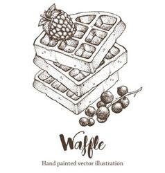waffles background vector image