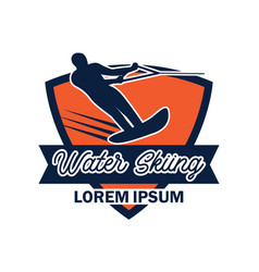 water skiing logo with text space for your slogan vector image