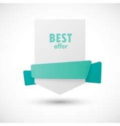 White paper banner vector