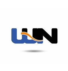 WN initial company group logo vector