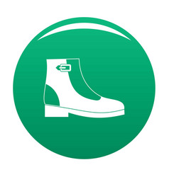 woman boots icon green vector image