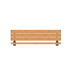 wooden outdoor bench urban infrastructure element vector image
