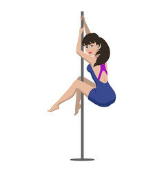 young woman is dancing on a pylon vector image