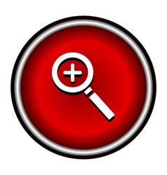 Zoom In Magnifying Glass Icon magnifying glass vector